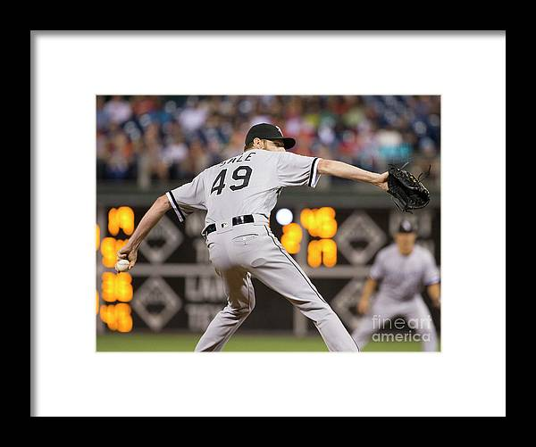 Three Quarter Length Framed Print featuring the photograph Chris Sale by Mitchell Leff