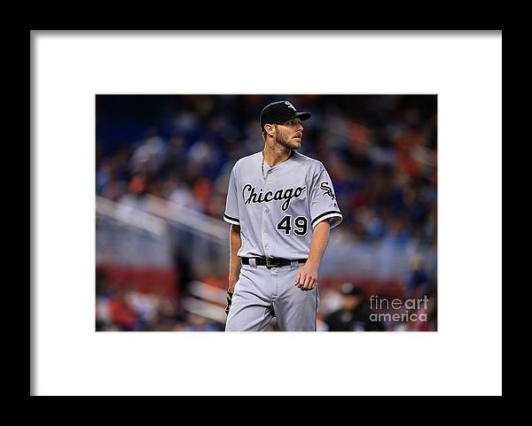 Three Quarter Length Framed Print featuring the photograph Chris Sale by Rob Foldy