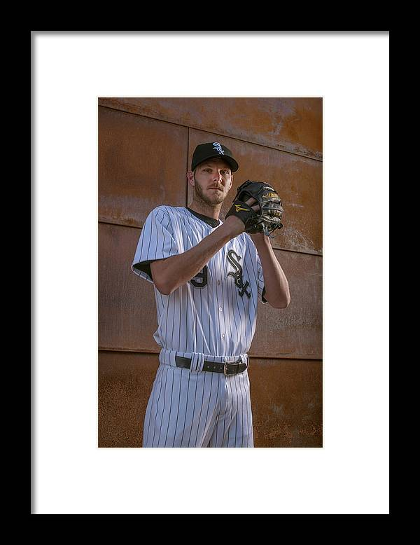 Media Day Framed Print featuring the photograph Chris Sale by Rob Tringali