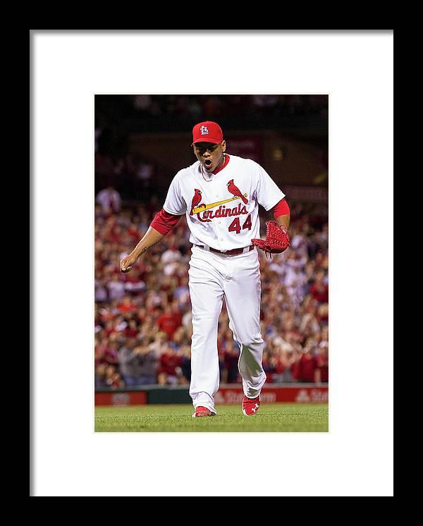St. Louis Cardinals Framed Print featuring the photograph Chris Stewart by David Welker