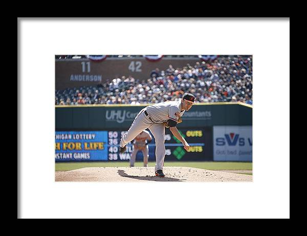 American League Baseball Framed Print featuring the photograph Chris Tillman by John Grieshop