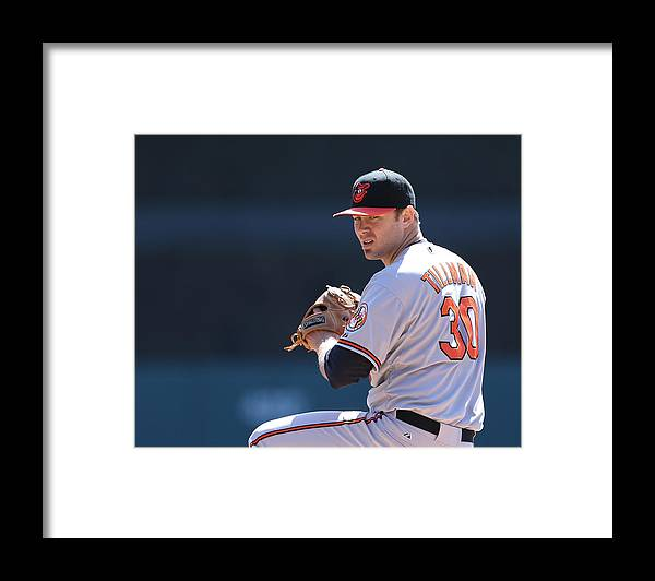American League Baseball Framed Print featuring the photograph Chris Tillman by Leon Halip