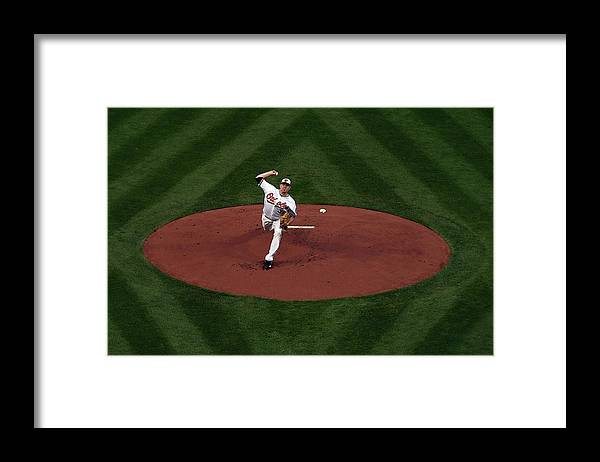 American League Baseball Framed Print featuring the photograph Chris Tillman by Patrick Smith