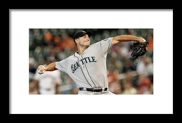 American League Baseball Framed Print featuring the photograph Chris Young by Bob Levey