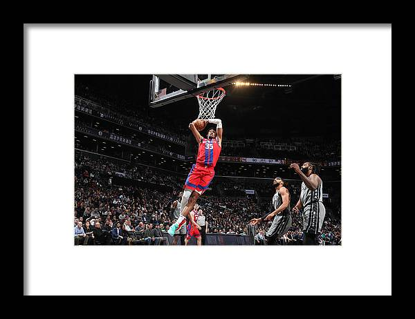 Nba Pro Basketball Framed Print featuring the photograph Christian Wood by Nathaniel S. Butler