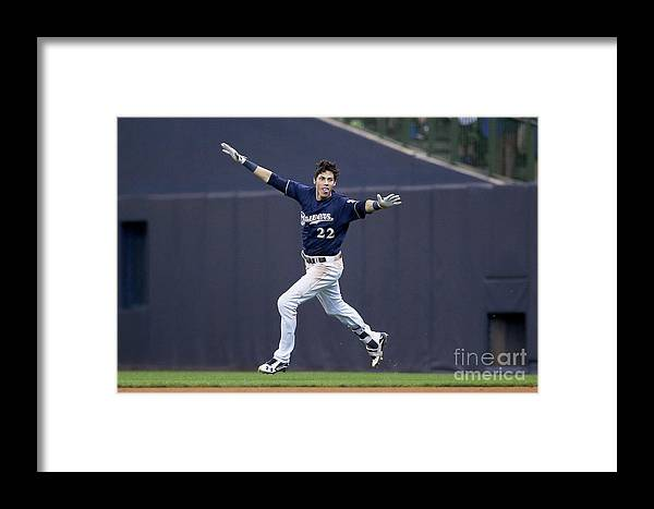 People Framed Print featuring the photograph Christian Yelich by Dylan Buell