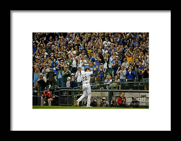 Crowd Framed Print featuring the photograph Christian Yelich by Jon Durr
