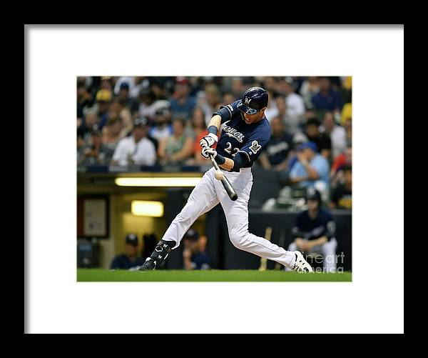 People Framed Print featuring the photograph Christian Yelich by Quinn Harris