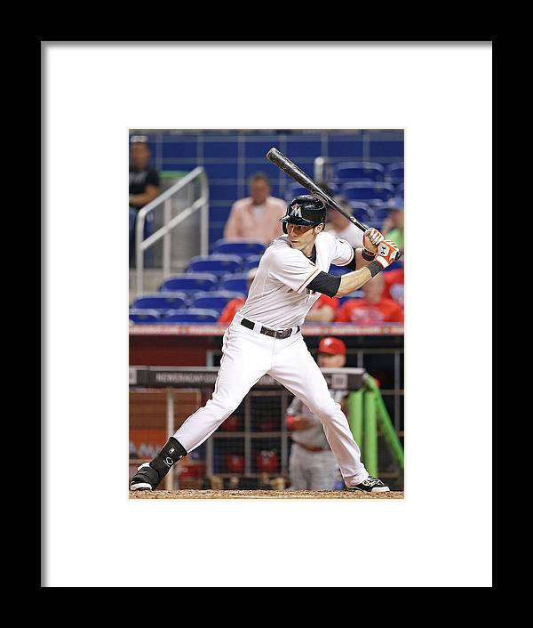 American League Baseball Framed Print featuring the photograph Christian Yelich by Rob Foldy