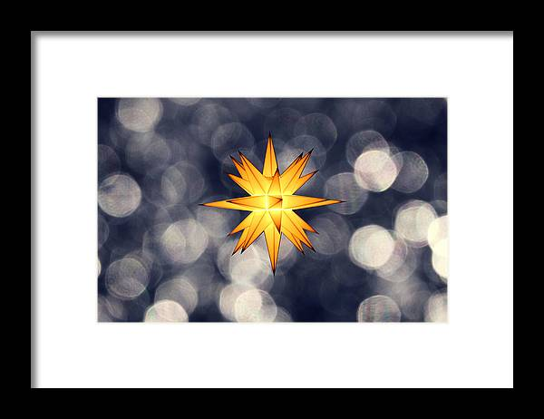 Star Of Bethlehem Framed Print featuring the photograph Christmas Atmosphere by Bernd Schunack