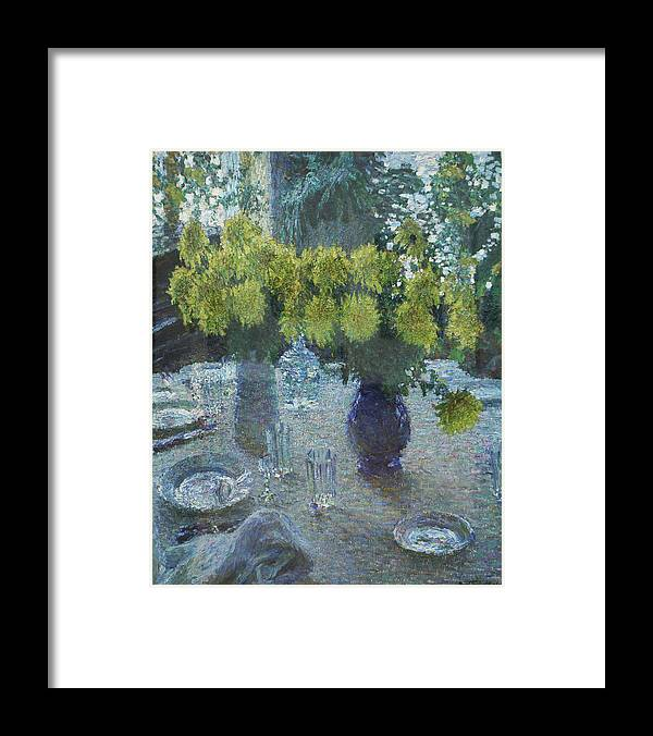 Russian Impressionism Framed Print featuring the painting Chrysanthemums by Igor Grabar