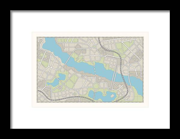 Plan Framed Print featuring the photograph City Map by Pagadesign