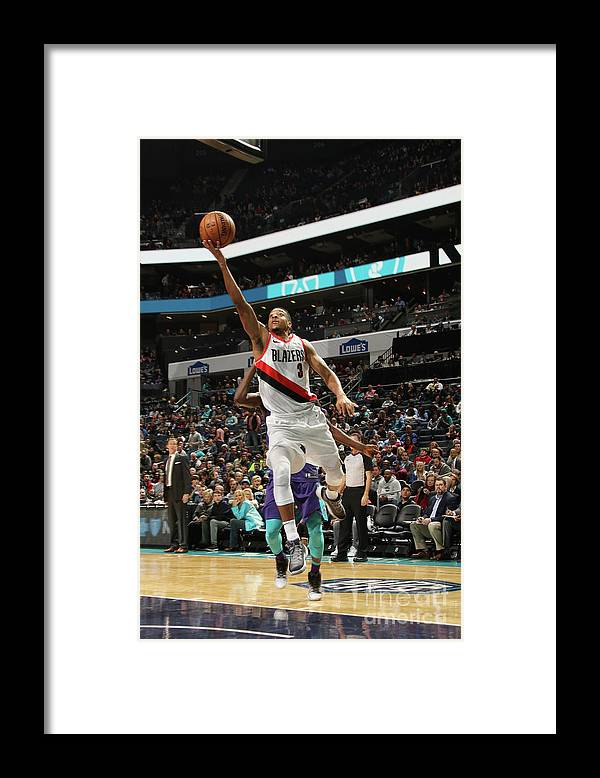 Nba Pro Basketball Framed Print featuring the photograph C.j. Mccollum by Brock Williams-smith