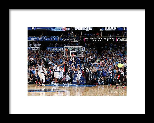 Nba Pro Basketball Framed Print featuring the photograph C.j. Mccollum by Danny Bollinger
