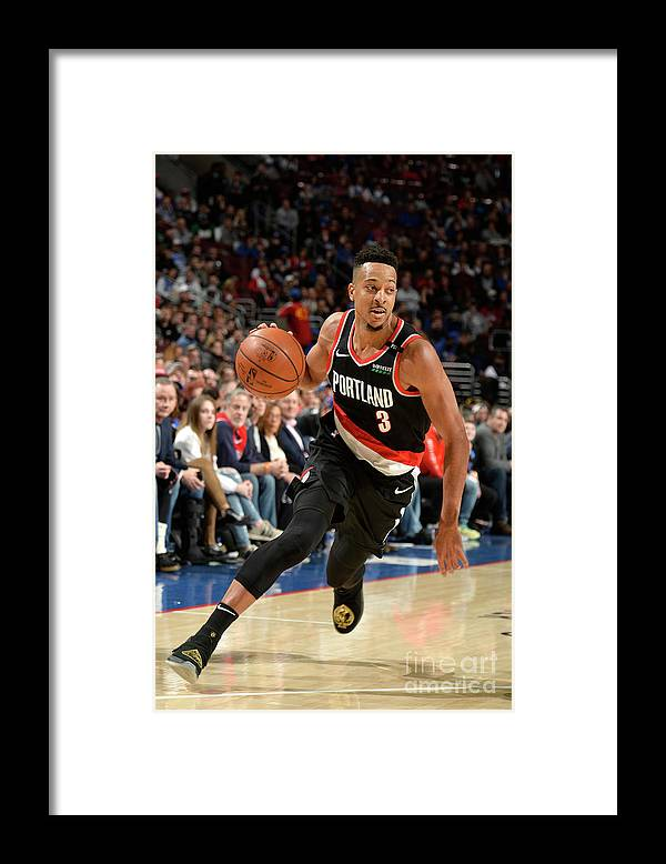 Nba Pro Basketball Framed Print featuring the photograph C.j. Mccollum by David Dow