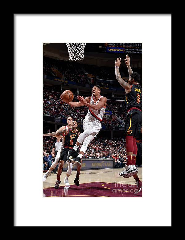 Nba Pro Basketball Framed Print featuring the photograph C.j. Mccollum by David Liam Kyle