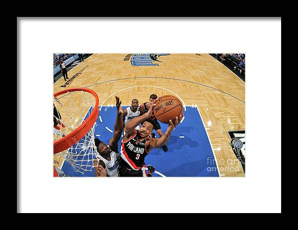 Nba Pro Basketball Framed Print featuring the photograph C.j. Mccollum by Fernando Medina