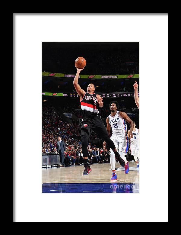 Nba Pro Basketball Framed Print featuring the photograph C.j. Mccollum by Jesse D. Garrabrant