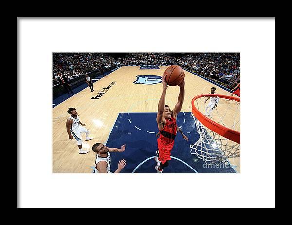 Sports Ball Framed Print featuring the photograph C.j. Mccollum by Joe Murphy