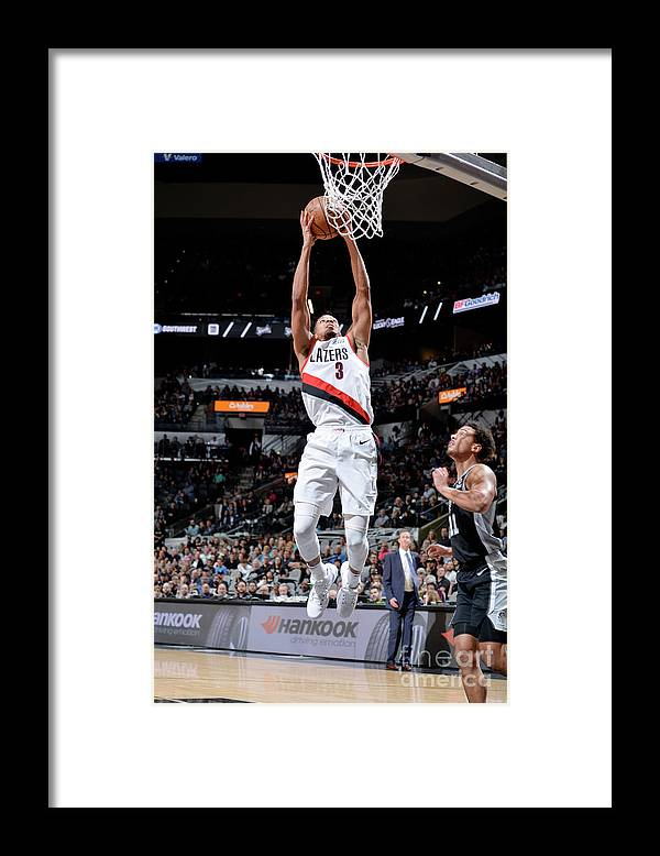 Nba Pro Basketball Framed Print featuring the photograph C.j. Mccollum by Mark Sobhani