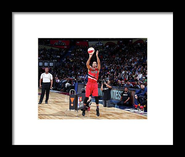 Event Framed Print featuring the photograph C.j. Mccollum by Nathaniel S. Butler