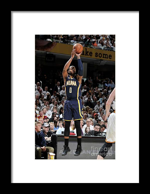 Playoffs Framed Print featuring the photograph C.j. Miles by David Liam Kyle