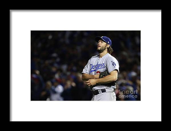 Three Quarter Length Framed Print featuring the photograph Clayton Kershaw and Anthony Rizzo by Jonathan Daniel