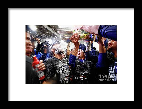 Championship Framed Print featuring the photograph Clayton Kershaw by Jamie Squire
