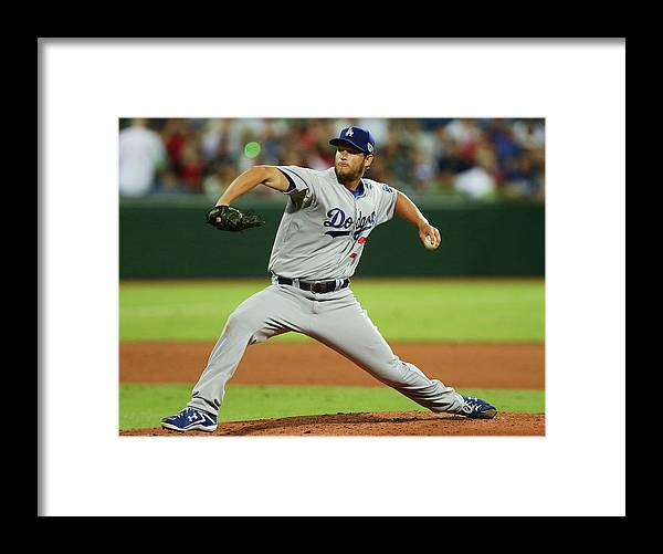 People Framed Print featuring the photograph Clayton Kershaw by Matt King