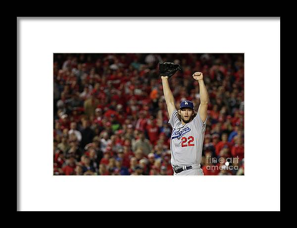 Three Quarter Length Framed Print featuring the photograph Clayton Kershaw by Patrick Smith