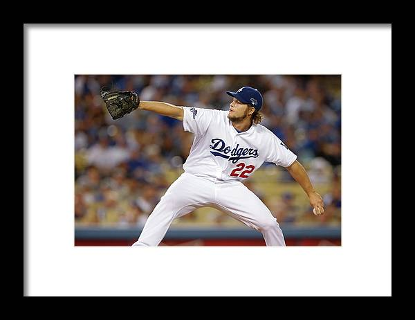 Playoffs Framed Print featuring the photograph Clayton Kershaw by Rob Leiter