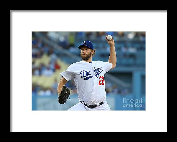 People Framed Print featuring the photograph Clayton Kershaw by Victor Decolongon