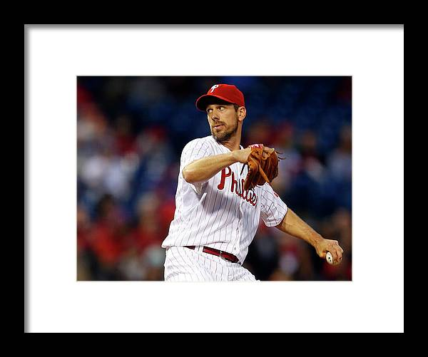 Citizens Bank Park Framed Print featuring the photograph Cliff Lee by Rich Schultz