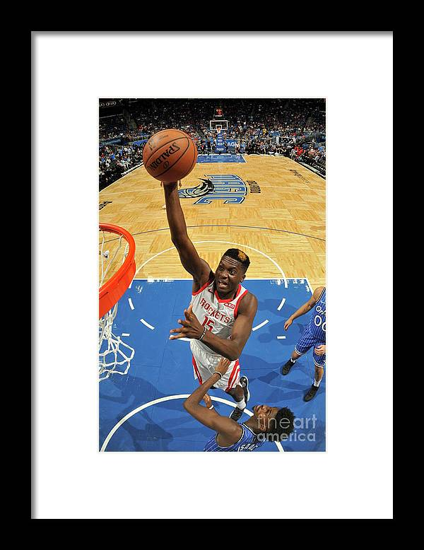 Nba Pro Basketball Framed Print featuring the photograph Clint Capela by Fernando Medina