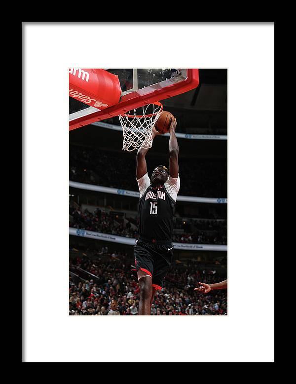 Nba Pro Basketball Framed Print featuring the photograph Clint Capela by Gary Dineen