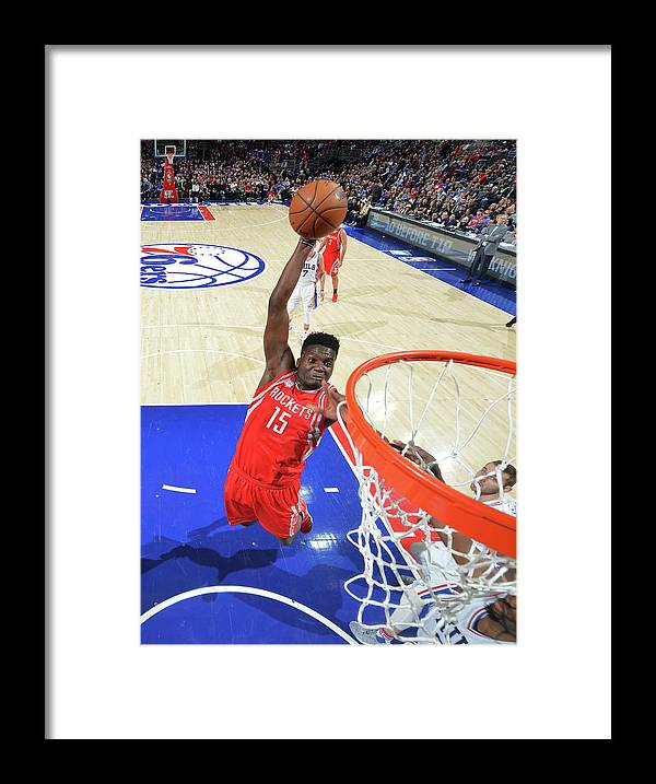 Nba Pro Basketball Framed Print featuring the photograph Clint Capela by Jesse D. Garrabrant
