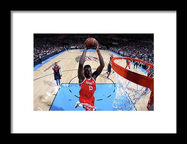 Nba Pro Basketball Framed Print featuring the photograph Clint Capela by Layne Murdoch