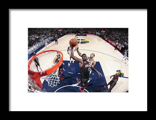 Nba Pro Basketball Framed Print featuring the photograph Clint Capela by Melissa Majchrzak