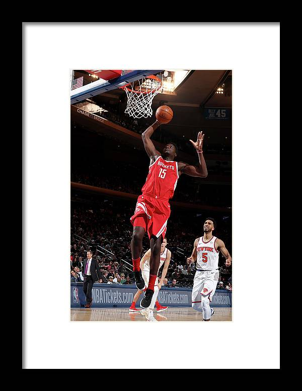 Nba Pro Basketball Framed Print featuring the photograph Clint Capela by Nathaniel S. Butler