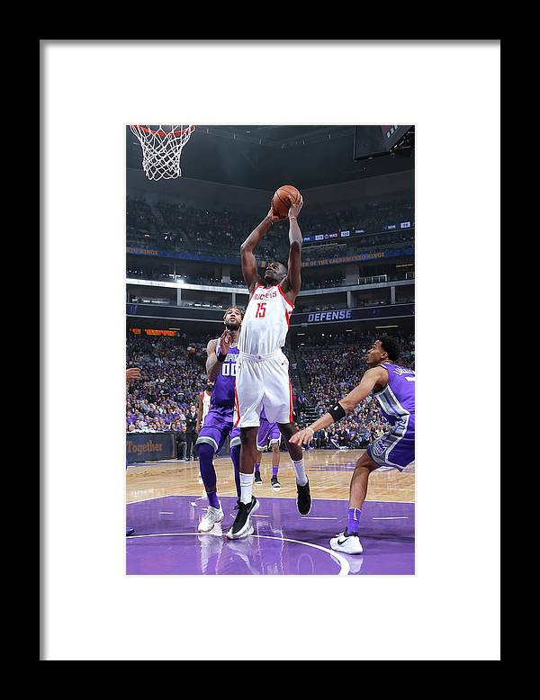 Nba Pro Basketball Framed Print featuring the photograph Clint Capela by Rocky Widner