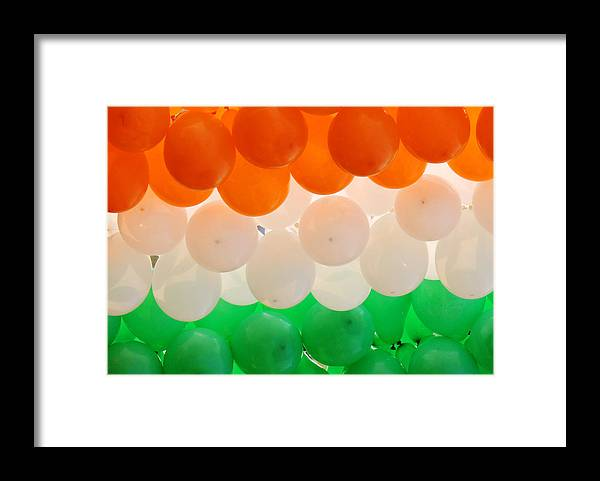 Orange Color Framed Print featuring the photograph Close-up of multicolored balloons by Anjandeep Kujur / FOAP