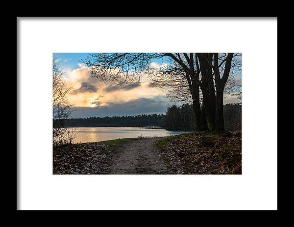 Scenics Framed Print featuring the photograph Cloudy Sunrise by William Mevissen