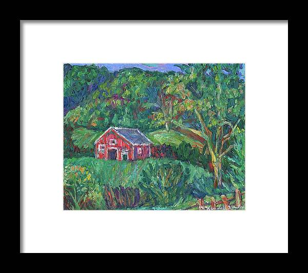 Rural Framed Print featuring the painting Clover Hollow in Giles County by Kendall Kessler