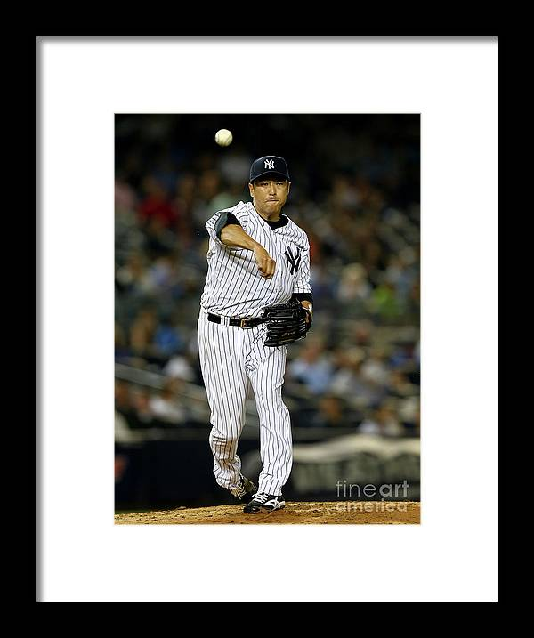 American League Baseball Framed Print featuring the photograph Coco Crisp and Hiroki Kuroda by Elsa