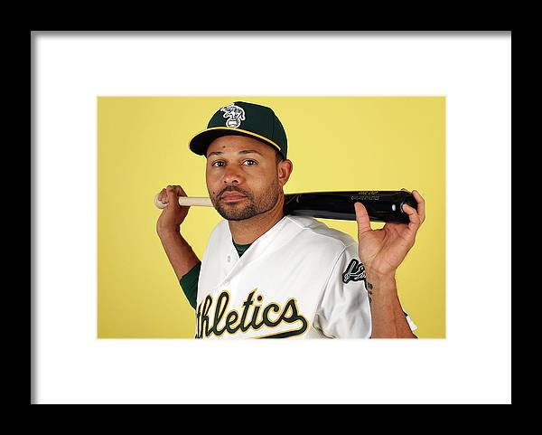 Media Day Framed Print featuring the photograph Coco Crisp by Christian Petersen