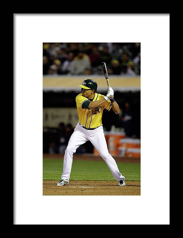American League Baseball Framed Print featuring the photograph Coco Crisp by Ezra Shaw