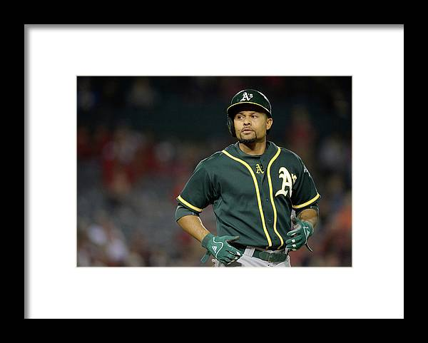 American League Baseball Framed Print featuring the photograph Coco Crisp by Harry How