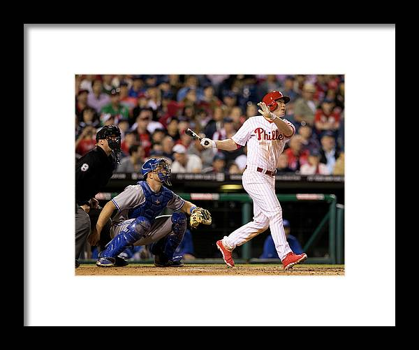 Majestic Framed Print featuring the photograph Cody Asche by Mitchell Leff
