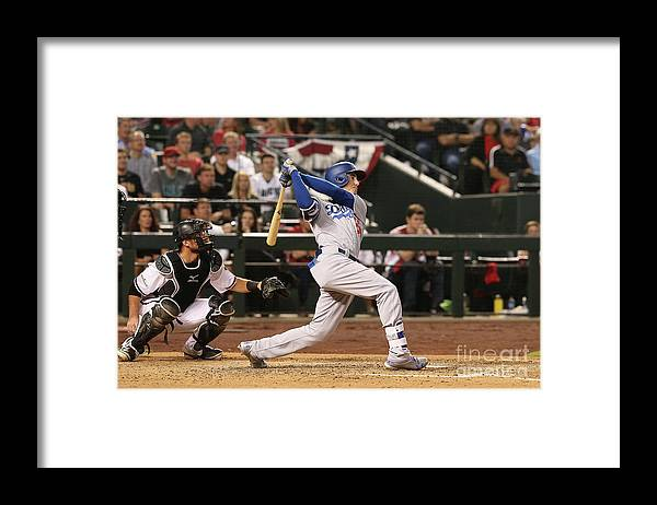 People Framed Print featuring the photograph Cody Bellinger by Christian Petersen