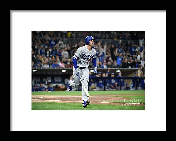People Framed Print featuring the photograph Cody Bellinger by Denis Poroy